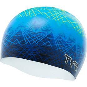 TYR Slow Fade Bonnet de bain en silicone, blue/yellow